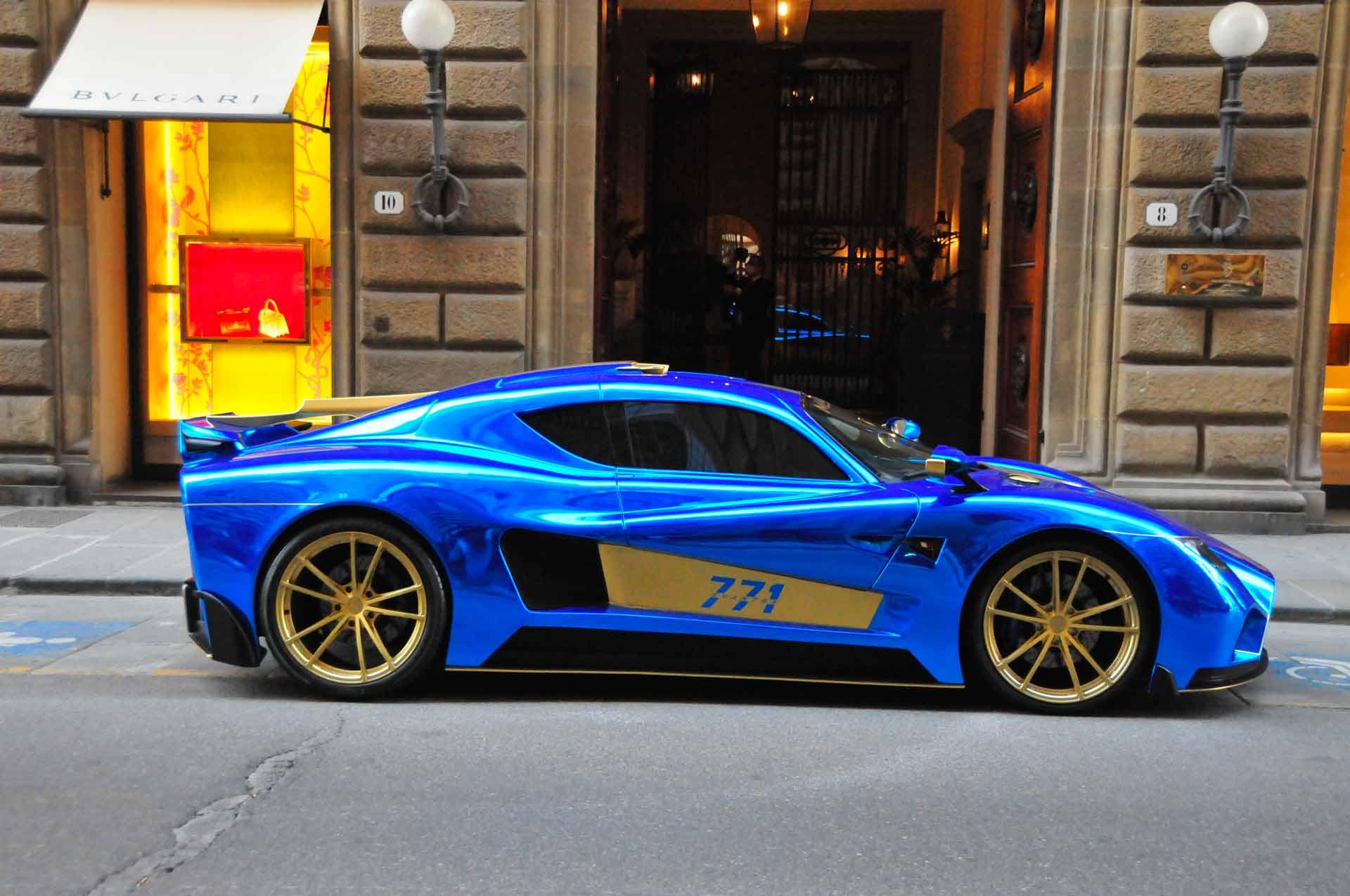 immagine del profilo di una supercar di Mazzanti Automobili